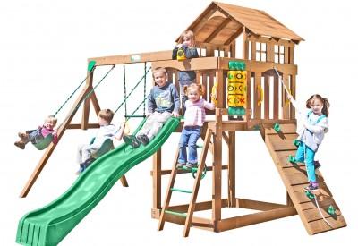 Eagle Point Wooden Swing Set